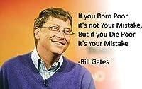 ビル・ゲイツ (引用句1) モチベーションを高めるポスター 12x15インチ