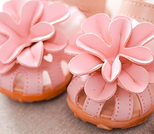 ange select マジックテープ 履きやすい 花 モチーフ 女の子 キッズ クッション サンダル 滑り止め 付き 子供 靴 ange select