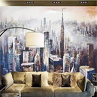 Ljjlm 壁紙Youmanカスタム現代の3D写真不織壁紙壁紙壁画の3D壁紙ニューヨーク市の風景画のソファ-160X120CM