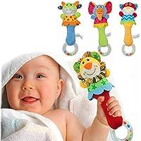 ベビーおもちゃ動物TeetherスティックBaby Rattle Hand Rattles幼児Puppetスティック新生児ベビースティックベルElephant