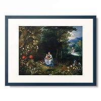 ヤン・ブリューゲル(子) Jan Brueghel de Jonge 「The Madonna and Child in a Wooded River Landscape.」 額装アート作品