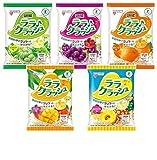 【 2017 新商品 】[トクホ] マンナンライフ 蒟蒻畑 ララクラッシュ 最新アソート5種<ぶどう味・マスカット味・オレンジ味・マンゴー味・パイナップル味> 合計5袋(40個)