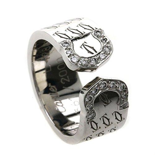 CARTIER(カルティエ) C2リング 2000年クリスマス限定 ダイヤモンド リング・指輪 K18WG レディース (中古)
