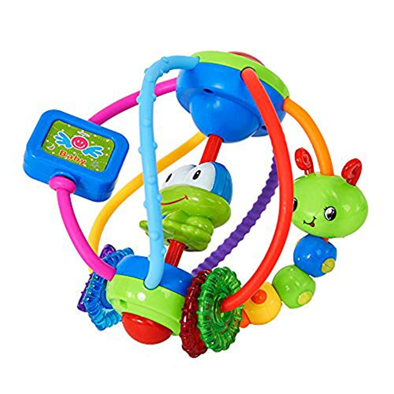 COLORTREE Baby Sensory Discover Shake & Spin Activity Ball Learning Toy