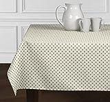 A Luxehomeホワイトとメタリックゴールドモダンコンテンポラリードット柄テーブルクロスダイニングルームキッチン正方形52 x 52