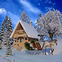 GladsBuy クリスマス 雪 8フィート x 8フィート デジタルプリント 写真撮影 背景 クリスマス テーマ 背景 YHA-119