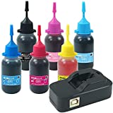 【Angelshop】EPSON(エプソン)用互換ボトルインク-6CL+70/80/ITH対応リセッター 2点セット 交換用手袋付き