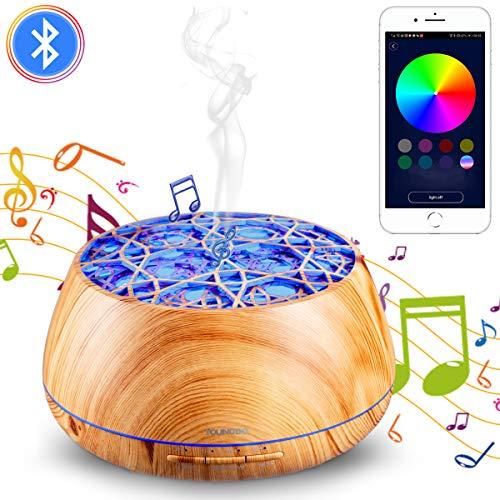YOUNGDO アロマ加湿器 卓上加湿器 アロマディフューザー 超音波式 V4.2 Bluetoothスピーカー 400ML大容量 1...