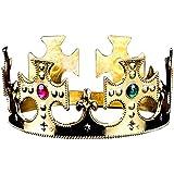 3のセット[ Golden ] King / Princeクリスタルクラウン子供用パーティーFavors Funny Party Hats