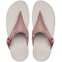 FitFlop Womens The Skinny Lizard Print Toe-Thong Sandals Spice