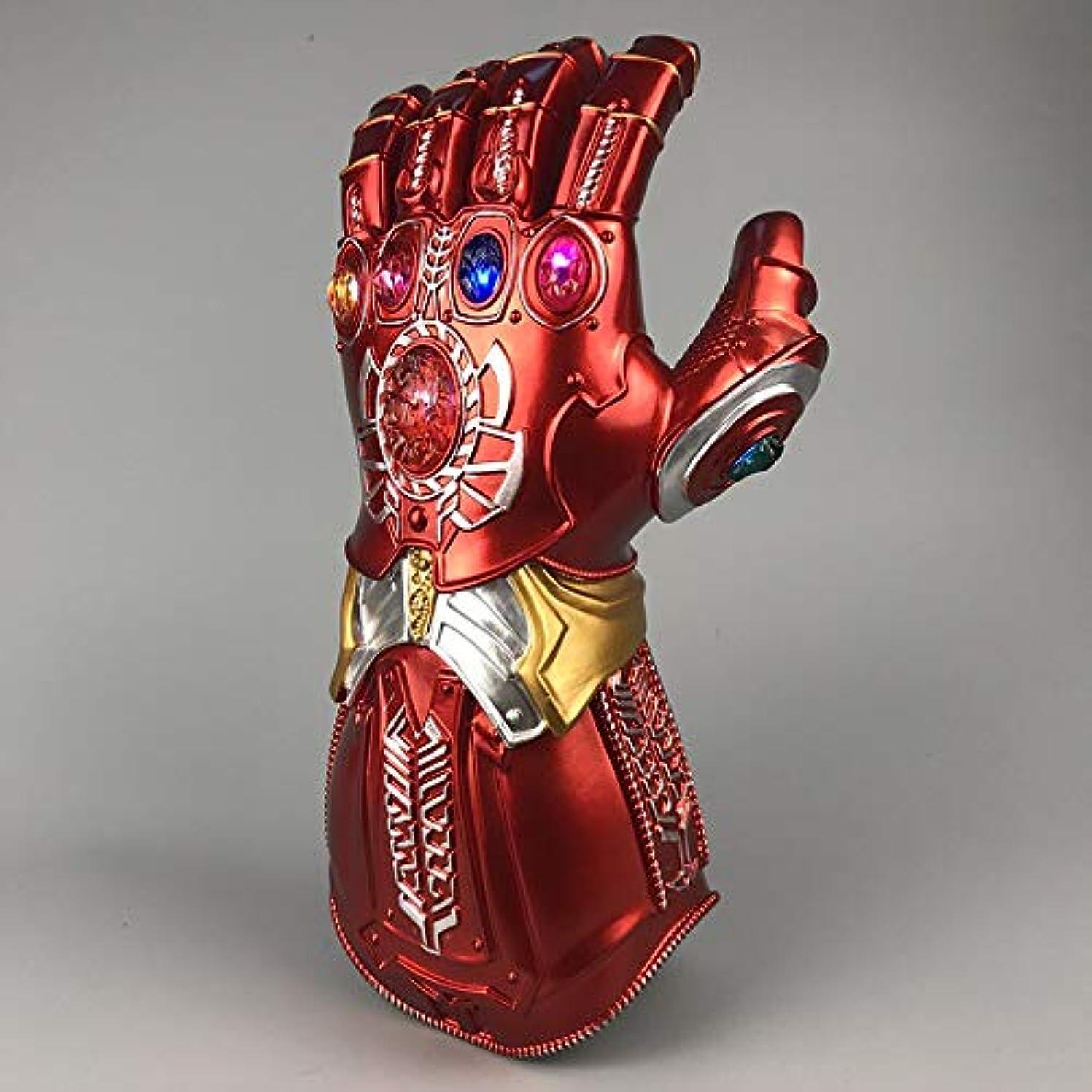 罪人情報忠実にCTA アイアンマン Thanos さん無限大ガントレットアベンジャーズ無限大戦争手袋 led ライトスーパーヒーロー Thanos さんアクションフィギュア PVC 新コレクションおもちゃ