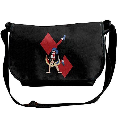 MIHOO ハーレイ クイン スーサイド スクワッド ユニセックス ショルダーバッグ カバン 斜めがけ 実用的 ファッション Black