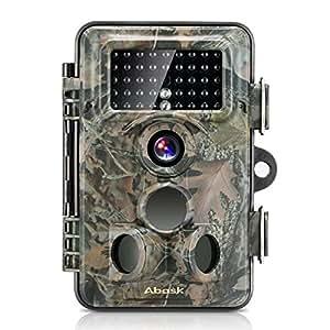 トレイルカメラ, ABASK防犯暗視カメラ 野外監視カメラ 500万のCMOSセンサー付き 1200万画素 1080P HD動画対応モデル 動体検知 IP66防水仕様 時差撮影機能 動物撮影