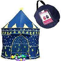 Xiangtat キッズ キャッスルテント 子供用 テント 子供遊ぶハウス ボールハウス お城 折りたたみ式 収納バッグ付き 簡単組み立て 1 ~ 8歳の子ども 秘密基地 遊び小屋屋内 屋外 でも使える 知育玩具