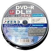 ZERO DVD+R DL(2層タイプ) 2.4倍速 10枚 プリンタブル ZE+R8.5DLX10PW