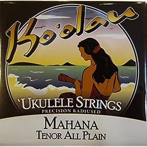 【KO'OLAU STRINGS】 MAHANA TENOR PLAIN テナー用 ウクレレ弦セット (クリアナイロン)
