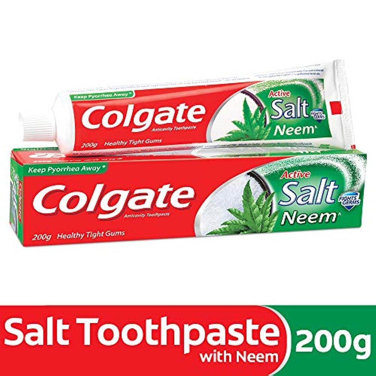 飼い慣らすたくさんの一次Colgate Active Salt Neem Anticavity Toothpaste - 200g