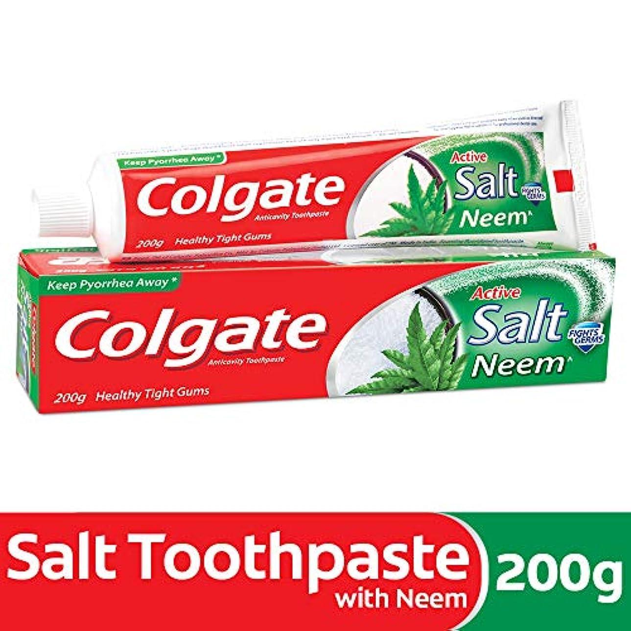 雇った信頼性のある他にColgate Active Salt Neem Anticavity Toothpaste - 200g