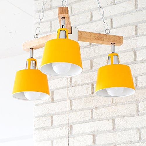 PROJECTS チェーンペンダントライト 3灯 BELLME(ベルミー) (リモコン 電球付属なし(本体のみ), イエロー)
