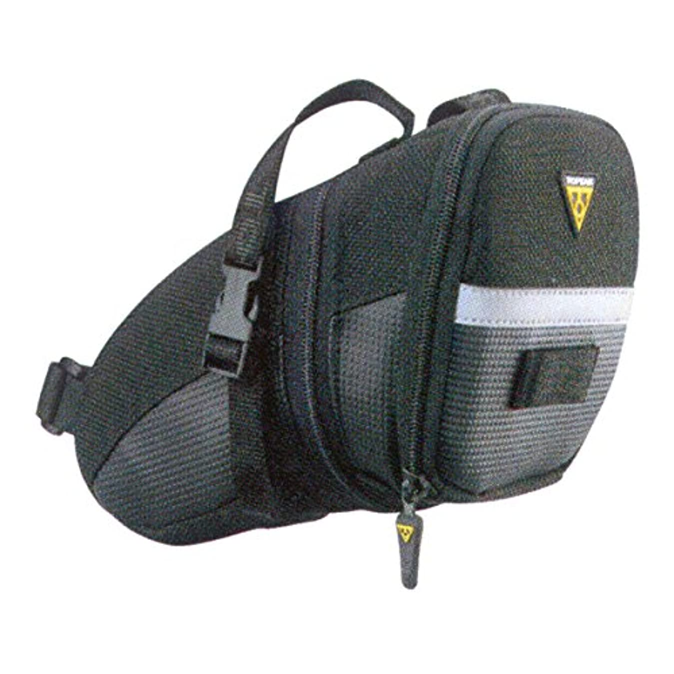 コーヒー待つ荒廃するTOPEAK(トピーク) Aero Wedge Pack (Strap Mount) Lサイズ ブラック