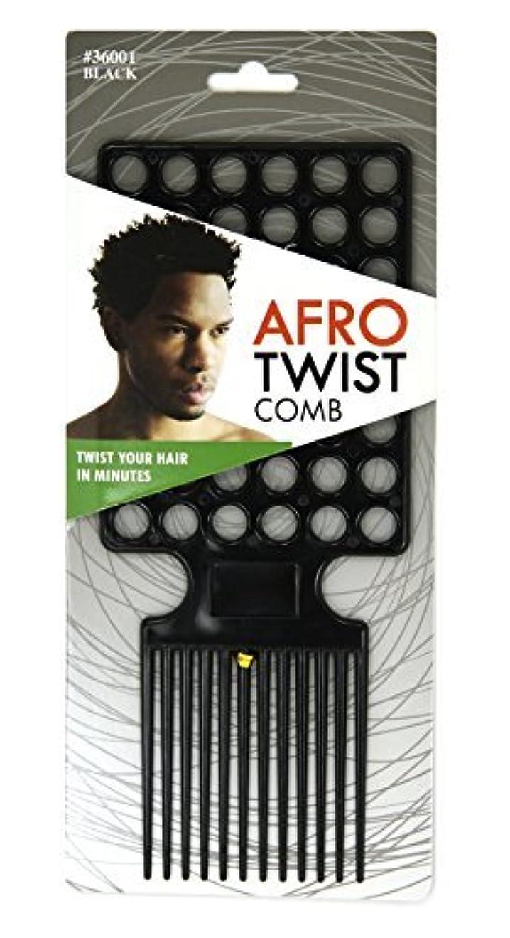 心のこもった真夜中強制的Afro Twist Comb Black twist your hair in minutes [並行輸入品]