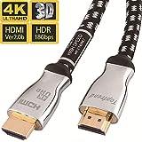 4K HDMI 2.0 ケーブル 10.66m 4K 60Hz 3D UHD HDR ARC イーサネット対応 24k金めっき端子 28AWG銅導体 CL3規格 テレビ、HDTV、Xbox、Blue-ray プレイヤー、PS3、PS4、PC、Apple TV向け