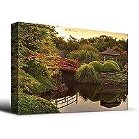 """禅 日本 フットブリッジ ジークレー 油絵 キャンバスプリント ウォールアートワーク ホームデコレーション 12インチx18インチ 16"""" x 24"""""""