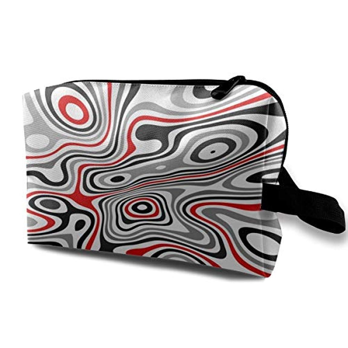シーサイドテクニカルカリングStriped Zebra 収納ポーチ 化粧ポーチ 大容量 軽量 耐久性 ハンドル付持ち運び便利。入れ 自宅?出張?旅行?アウトドア撮影などに対応。メンズ レディース トラベルグッズ