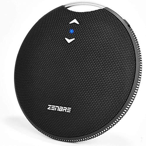 Bluetooth スピーカー、ZENBRE Craft【 IPX7防水 /约20h連続再生/Bluetooth 4.2 /マグネット搭載/高音質 7Wドライバー、ワイヤレス、低音強化、マイク搭載、AUX線、長時間連続再生】 (ブラック)