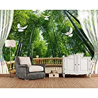 Ansyny 壁紙写真壁画3D壁画竹林3Dスペーステレビ壁紙リビングルーム寝室のソファ背景装飾家用-360X250CM
