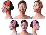 引き上げマスク 頬のたるみ 額、顎下、頬リフトアップ ピンク グレー 弾力V-ラインマスク 引っ張る リフティング フェイス リフトスリムマスク 美容 フェイスマスク