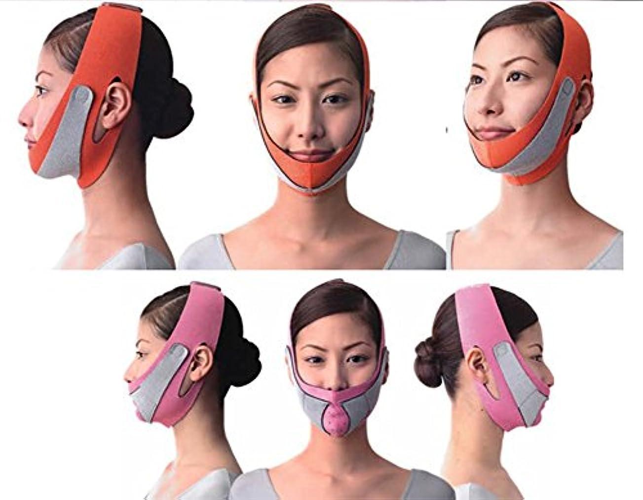 ホラー適応咽頭引き上げマスク 頬のたるみ 額、顎下、頬リフトアップ ピンク グレー 弾力V-ラインマスク 引っ張る リフティング フェイス リフトスリムマスク 美容 フェイスマスク