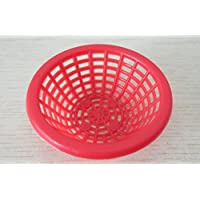 HuaQingPiJu-JP ドールハウスミニチュアアクセサリーミニバスケットモデル(赤)
