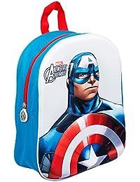 Marvel Avengers子供/キッズ用公式キャプテンアメリカCharacterバックパック