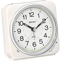 セイコー クロック 目覚まし時計 電波 アナログ 切替式 アラーム 白 パール KR326W SEIKO