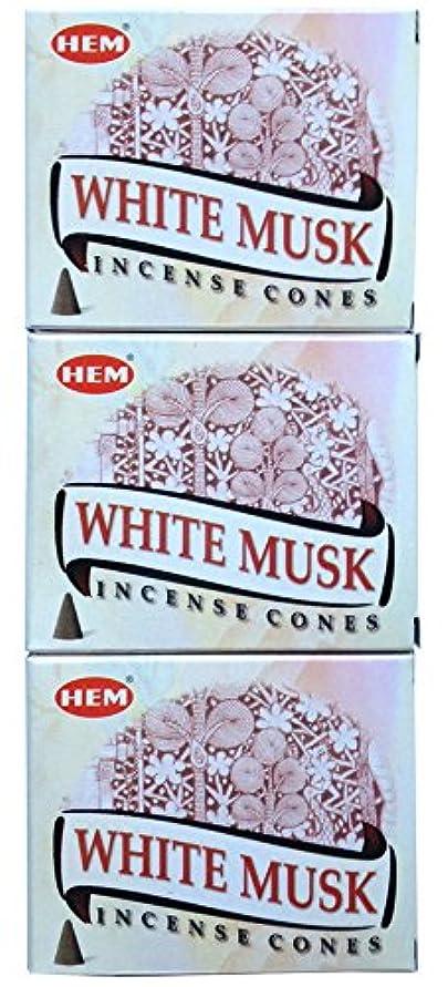 疫病鳴らすピクニックをするHEM ホワイトムスク コーン 3個セット