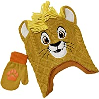 Disney Lion King Winter Hat and Glove Set, Boys Ages 1-4 Mustard