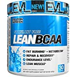 Evlution Nutrition LeanBCAA, BCAA, CLA And L-Carnitine, Recover And Burn Fat, Sugar And Gluten Free, 30 Servings (Blue Raz)