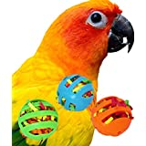 Bonka Bird Toys 1206 3 Stuffed Foraging Bird Toy Balls Cockatiel Parakeet Toys cage Cages Parrot cat