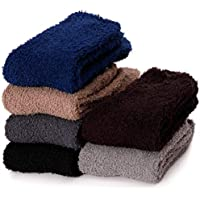 Mens Wool Socks Warm Comfort Knit Cotton Work Duty Boot Winter Socks For Cold Weather 5 Pack