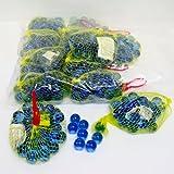 ビー玉 単色ブルー17mm(ネット袋入)1袋約33個×12袋入り