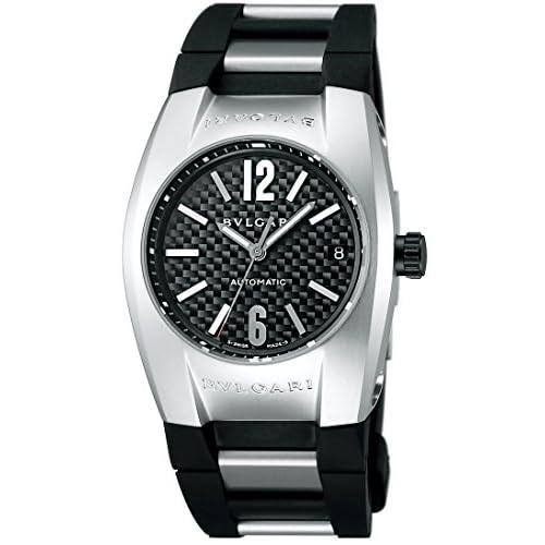 [ブルガリ]BVLGARI 腕時計 エルゴン カーボンブラック文字盤  ステンレス/ラバーベルト 自動巻 デイト EG35BSVD メンズ 【並行輸入品】