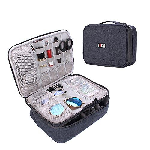 小物入れポーチ ATailorBird 旅行収納ケース PC周辺小物用収納ポーチ 整理バック 出張 キャリーオンバッグ 大容量 生活防水 軽量 スーツケース(ブルー)