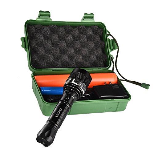 CVLIFE XM-L T6 led懐中電灯 ハンディライト ズーム式5モード バッテリー18650&SOS Stick付き