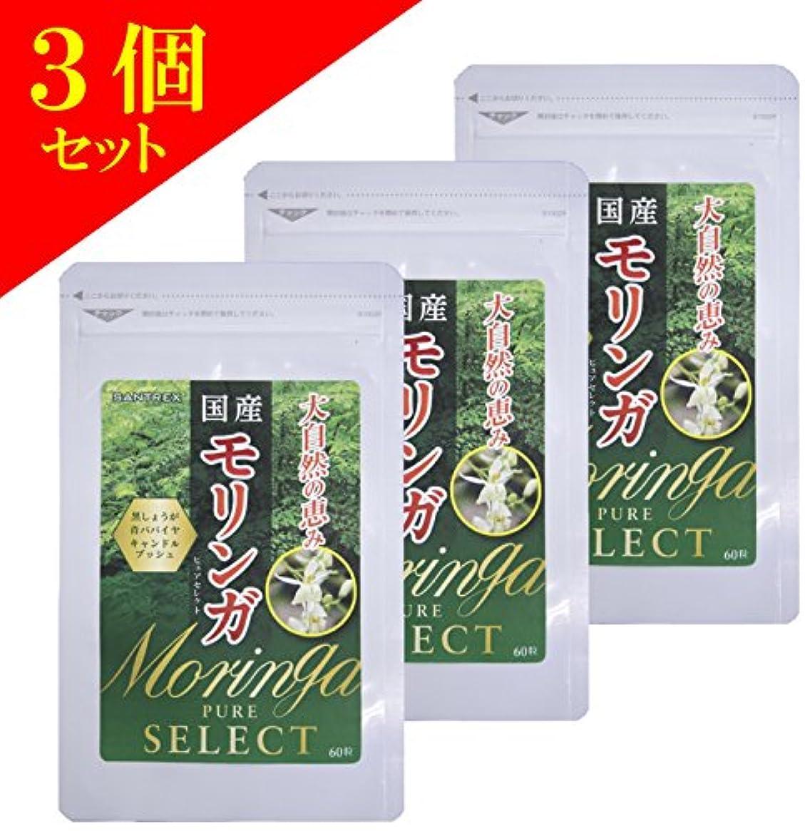 品揃えオーブンボーカル(3個) 国産モリンガ PURE SELECT 60粒×3個セット(4514792771001)