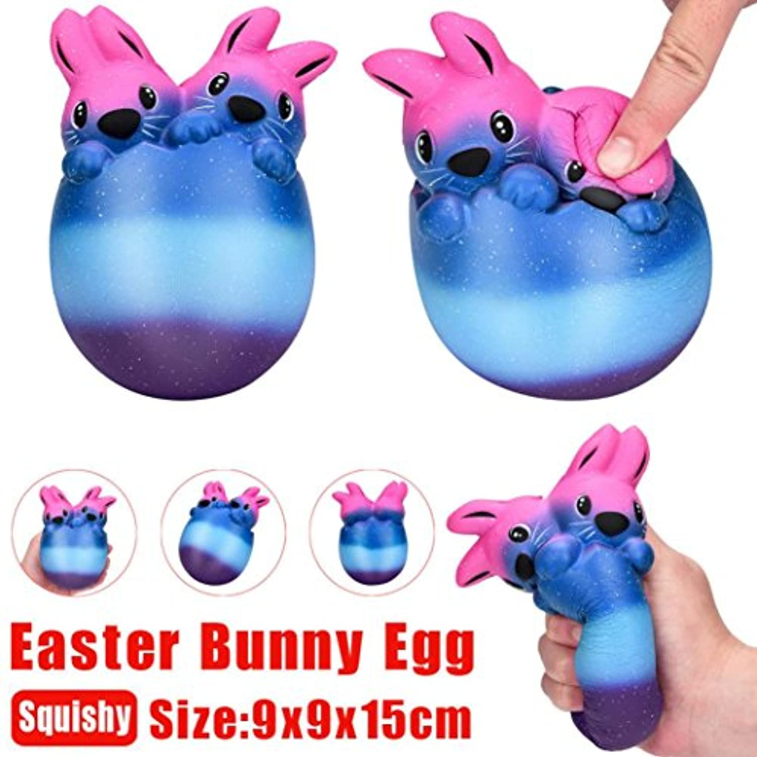 coerni Easter Bunny Egg Slow RisingジャンボSquishies Squeeze Toys