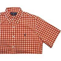 (ポロ ラルフローレン) 半袖 ギンガムチェック ボタンダウンシャツ オレンジ Polo Ralph Lauren 390[並行輸入品]