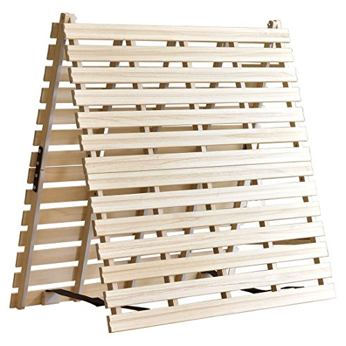 タンスのゲン すのこマット セミダブル 天然桐 折りたたみ 二つ折りタイプ リブ加工 風-kaze- 17610034 00