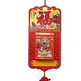 カレンダー 壁掛けカレンダーの伝統的な旧イエローカレンダー民俗太陰暦中国の旧イエローカレンダーレッド 卓上カレンダー (Color : B)