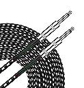 XINTRONICS ギターシールド 6.35mm 交換用ケーブル 生地編み ケーブル 3m ギター コード ギター キーボード ベース対応